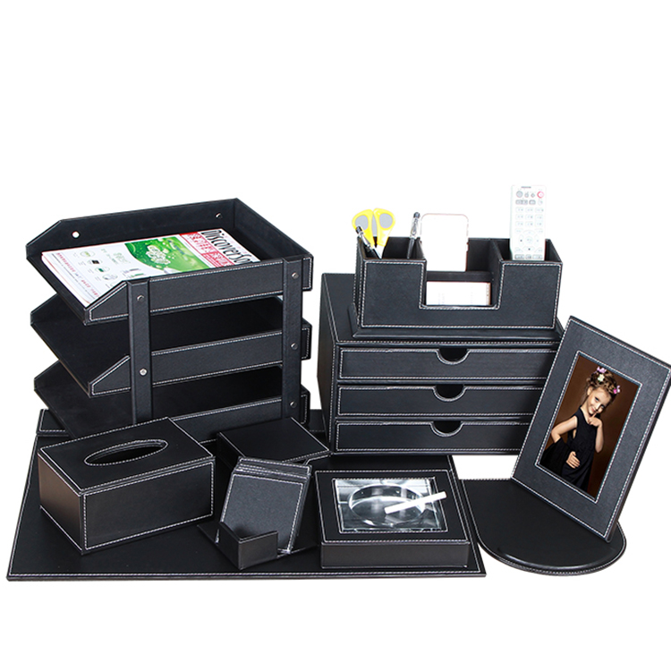 quality desktop file cabinet drawer storage box a4 information box office commercial supplies Office leather accessories set(China (Mainland))