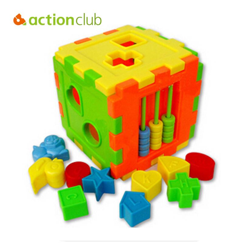 Hot Kids Shape Enlighten Colorful Box Blocks, Plastic Model Building Kit, Mathematics Learning &amp; Education Toys For Children <br><br>Aliexpress