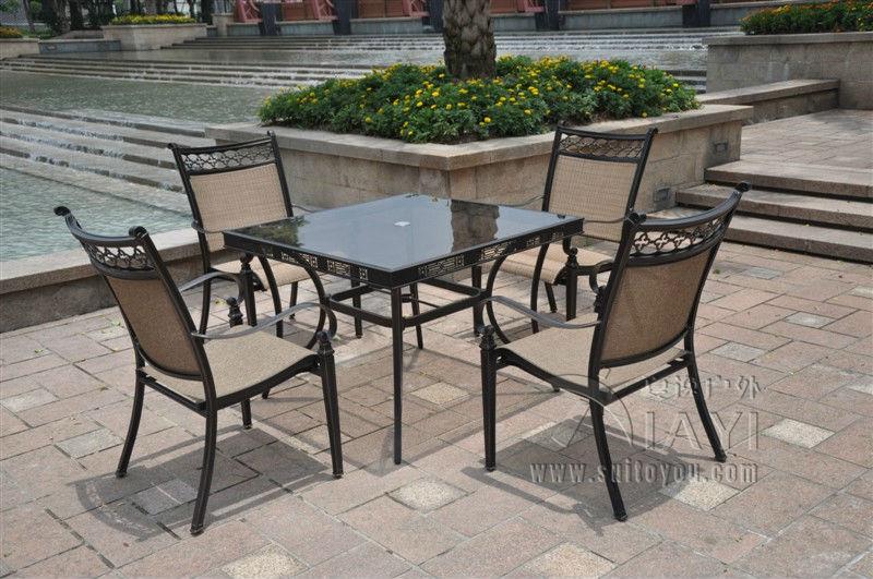 buy 5 piece cast aluminum patio furniture