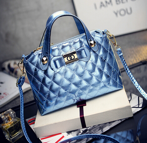 2015 New Design Women Handbags Messenger Bags Fashion Quilted Plaid Shoulder Bags Cross Body Bag Free Shipping(China (Mainland))