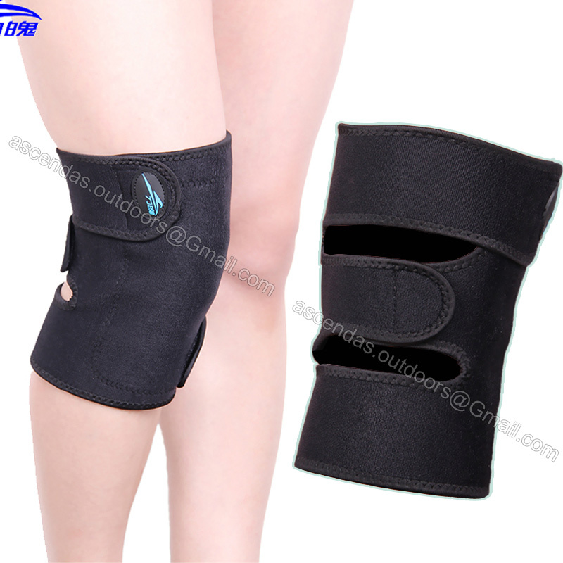 1 piece Magnets Healthy adjustable Knee Support Brace Wrap Sports Knee Pad Protector Guard Self-heating or Breathable Knee pad(China (Mainland))