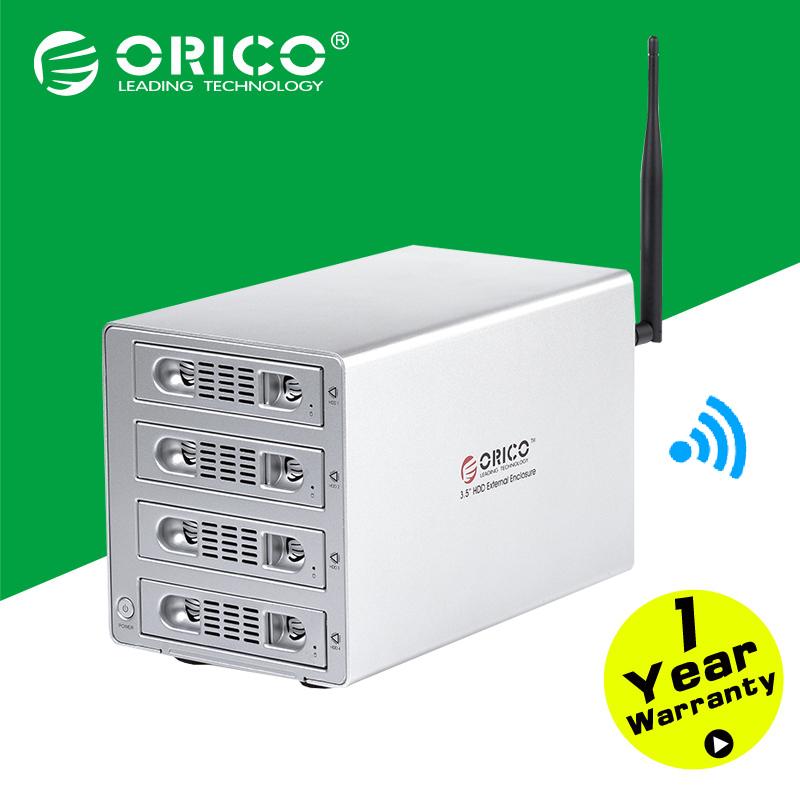 ORICO 3549U3RF 4bay Wifi NAS 3.5'' HDD Enclosure Wireless Storage Home Cloud Storage HDD Case(China (Mainland))