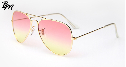 Newest Brand Designer Women Sunglasses Fashion Gradient Rimless Sunglasses Frog Mirror Gradient Unisex Sunglasses 5 Color Oculos(China (Mainland))