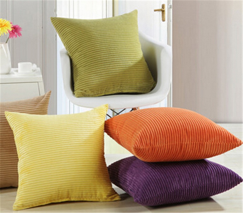 Big Soft Throw Pillows : Home Sofa Big Cushion Solid Color Modern Brief Pillow Super Soft Corduroy Home Textile ...