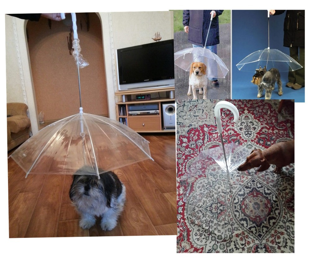 Free shipping Cute Fashion Soft Lovely Comfortable Transparent Dog Puppy Pet Umbrella Decoration For Outdoor Rain Travel Hiking(China (Mainland))