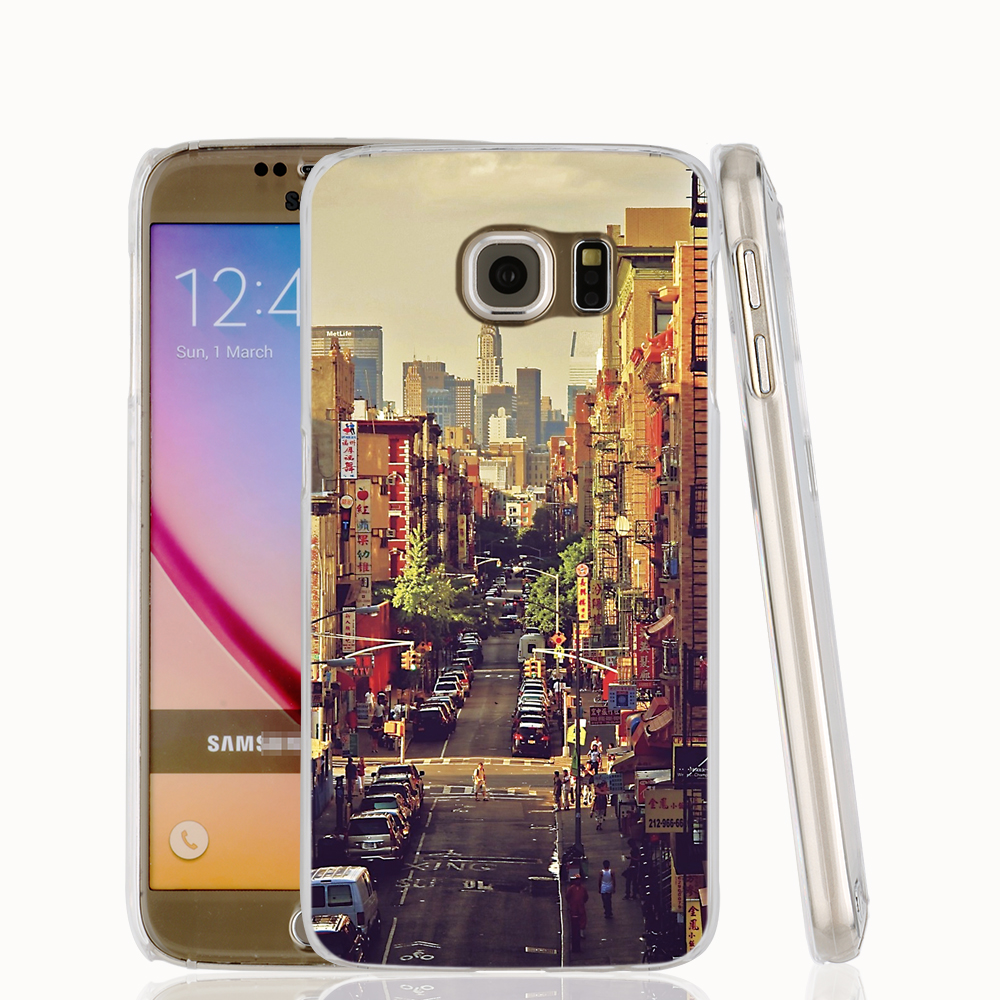 18088 China Town in NYC, USA cell phone protective case cover for Samsung Galaxy A3 A5 A7 A8 A9 2016(China (Mainland))