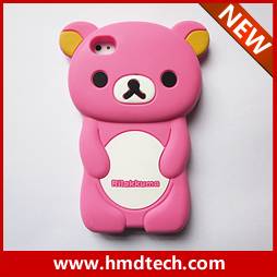 FREE SHIPPING 1 PCS Retail wholesale 2013 newest  case for iphone 4s 4 easily bear design with soft silicon