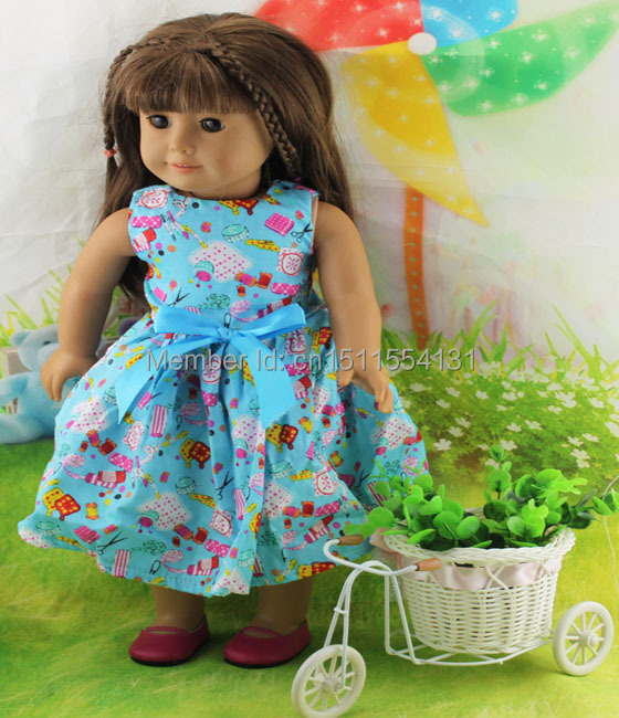 Free shipping!!! hot 2014 new style Popular 18 American girl doll clothes/dress w04<br><br>Aliexpress