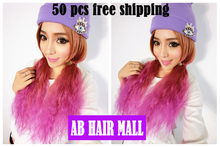 50 pcs/lot Harajuku Ombre color wig lolita corn hair wig hair with fluffy clip cosplay Afro wigs EMS Free Shipping(China (Mainland))
