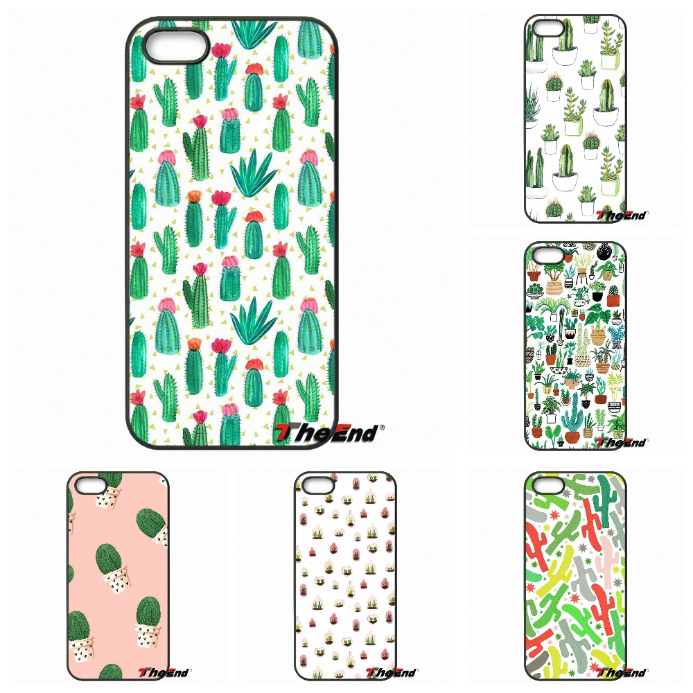 Lovely Green Plant Cactus Pattern Art Phone Case Capa HTC One M7 M8 M9 A9 Desire 626 816 820 Google Pixel XL plus X 2 3  -  Awesome Cases Store store