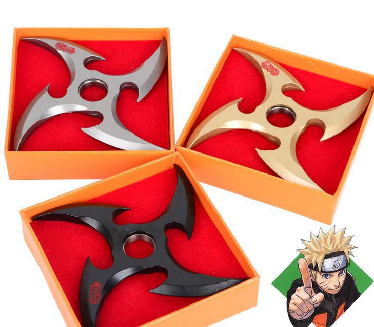 1Pcs New Rotatable Naruto Shuriken Weapon Cosplay Tools 12cm(China (Mainland))