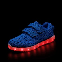 25~36 New USB Charging Led Children Shoes Krasovki Luminous Sneakers Kids Light up Air yeezy Shoes(China (Mainland))