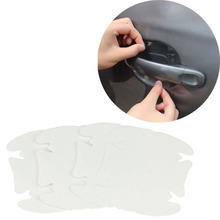 4 pcs/lot Universal Invisible Car Door Handle Stickers Car Sticker Protection Protector Film Scratches Resistant Cover Dropship