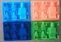 20pcs/lot Minifigure ice mold Robot Ice Mold Silicone Ice Cube  Minifigure ice cube