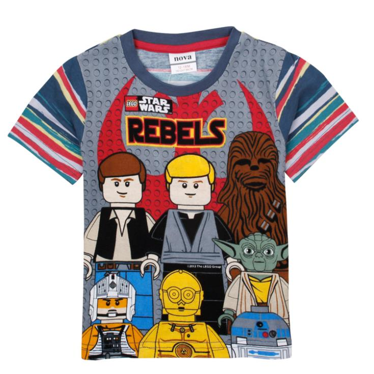 nova baby kids boy clothing lego star wars summer short sleeve 100 cotton t. Black Bedroom Furniture Sets. Home Design Ideas
