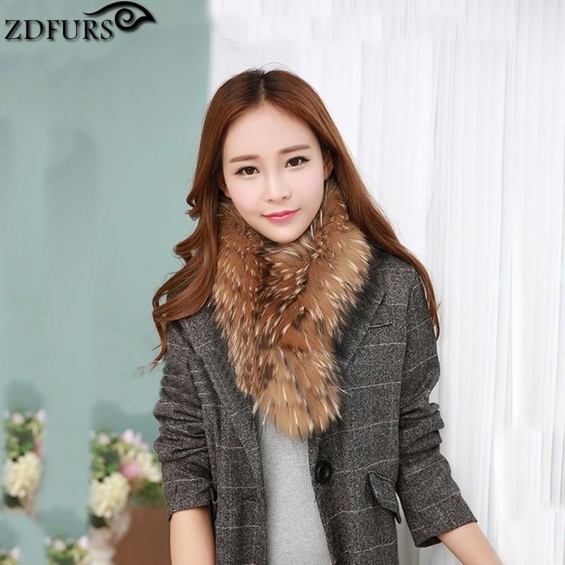 2016 Hot Selling Real Raccoon Dog Fur Scarf Fashion Fur Ring Luxury Whole Skin Raccoon Fur Neck Ring Shawls Fur Hooded 65CM(China (Mainland))