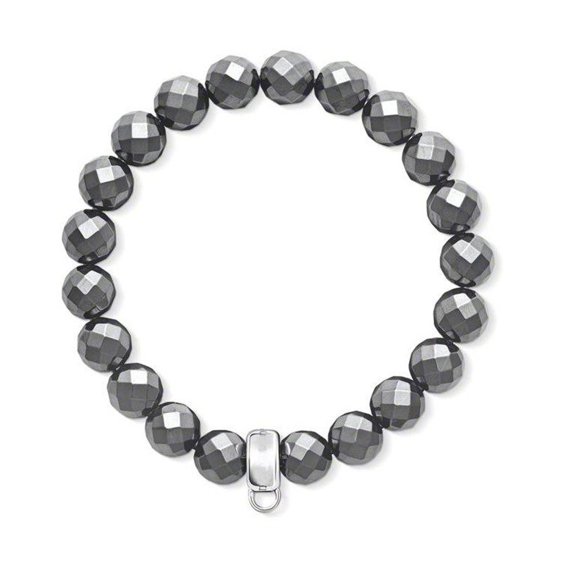 High Quality 32 facetted Hematite Beads TS Bracelets Fit Charm, Width:8mm,European Thomas Style Jewelry Bracelet For Women & Man(China (Mainland))