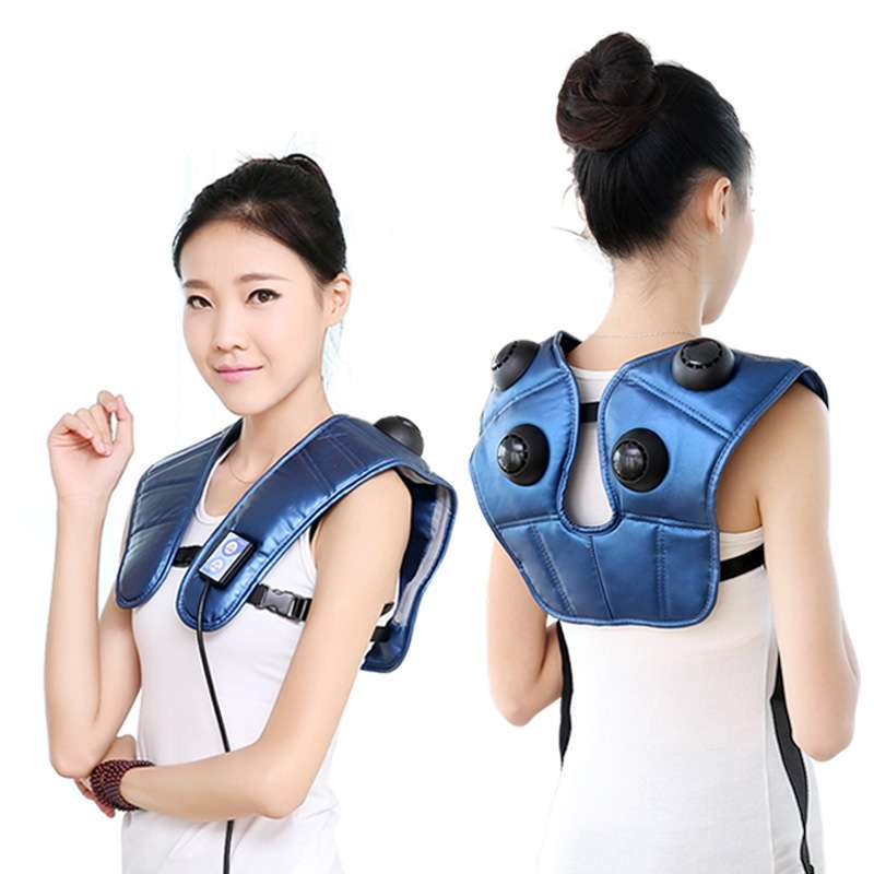 Brand New 2015 Professional Neck Shiatsu Body Massager Music Beat Cervical Neck and Shoulder Massager Automatic Heating 00188(China (Mainland))
