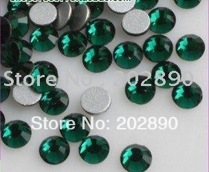 1440pcs SS4(1.5mm)deep green color Free shipping flat back Rhinestones perfect for nail art