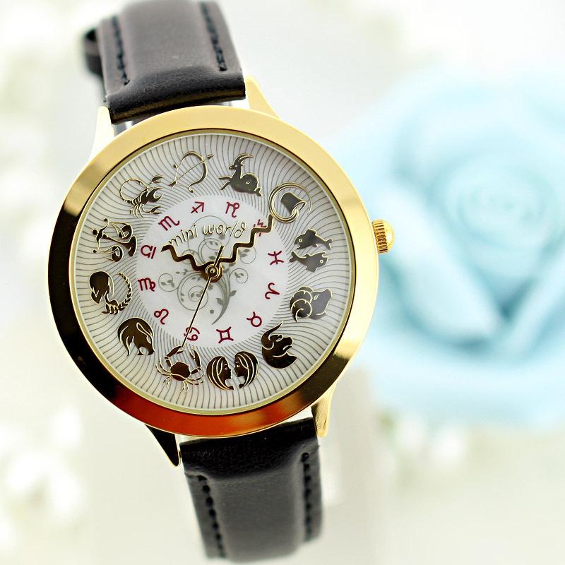 Hot MINI World Korean Fashion Watch Creative Personality Retro Women Quartz Watches Wristwatches Free Shipping(China (Mainland))