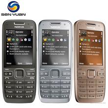 Original Nokia E52 Unlocked Mobile Phone Bluetooth 3G WIFI GPS russian keyboard support e52 phone(China (Mainland))