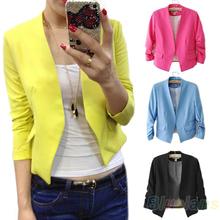 2013 Fashion Women s Korea Style Candy Color Solid Slim Suit Blazer Coat Jacket Outcoat Outerwear