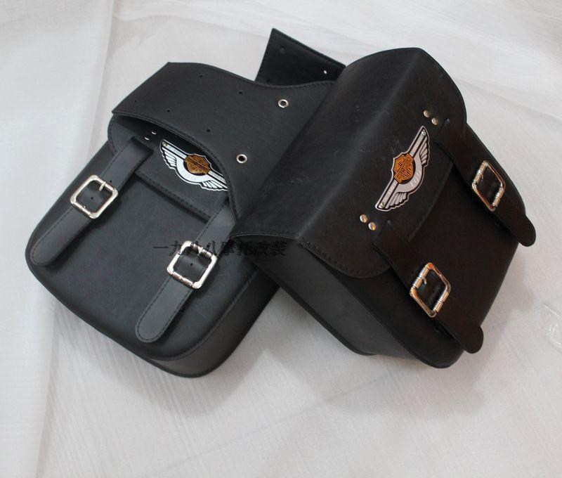 Free shipping motorcycle side bag satchel bag modified edge box pack saddle bag package Knight(China (Mainland))