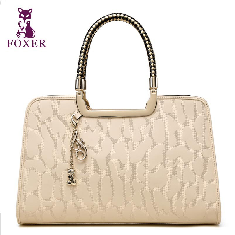 FOXER   The new 2015 leather women bags fashionable embossing female celebrities tide with the bag <br><br>Aliexpress
