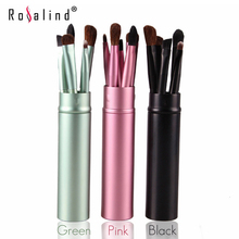 Rosalind Easy to Carry Travel Makeup Brushes Tools 5 Pcs with Cylindrical Box HOT Makeup Tools