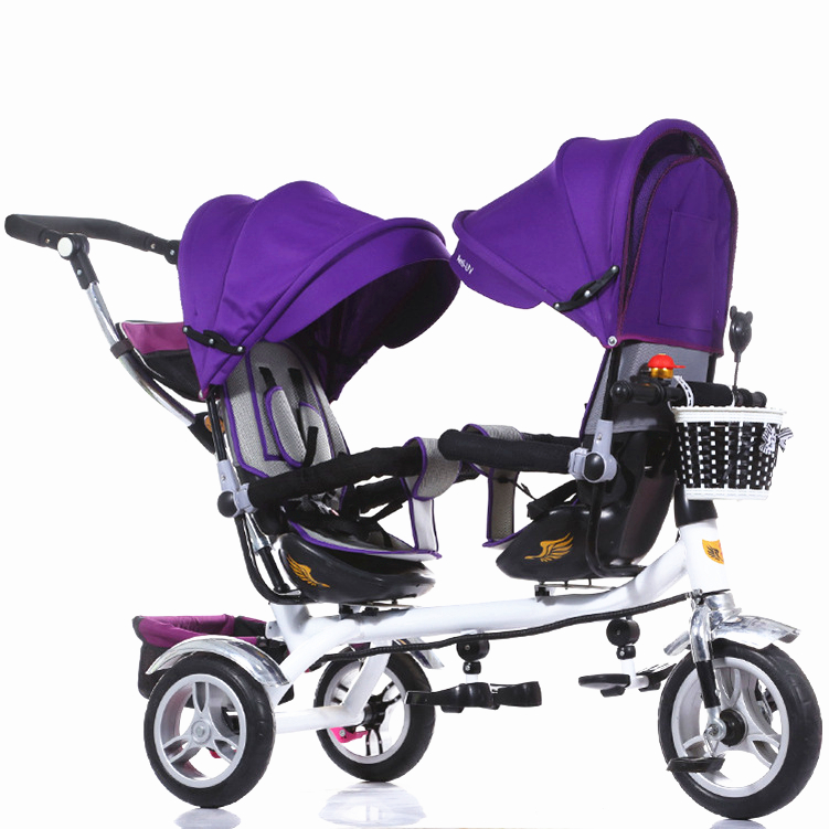 3 Wheel Twin Stroller Double Seat Tricycle for Twins ...
