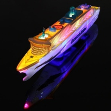 New 50cm Liner Ship Model Flashing Sound Electric Cruises Boat For Child Kids Toys Gift Automatic Steering Assembled Light Music(China (Mainland))