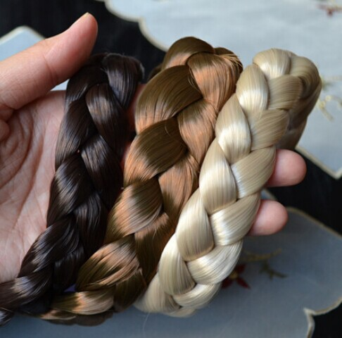 2.5cm wide New Arrival freeshipping fashion bohemian wigs braid thick wide headband popular fashion hair accessories(China (Mainland))