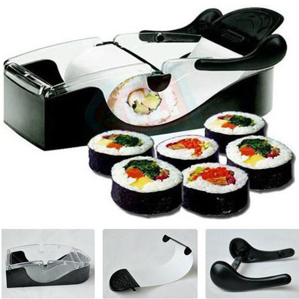 Perfect DIY Roller Machine Roll Sushi Maker Easy Kitchen Magic Gadget Cooking Tools Curtain Bento Acessorios De Cozinha Rolls(China (Mainland))