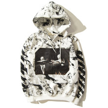 Free Shipping Kanye West Fear of God White 13 Hoodies OFF WHITE Sport Hoodie Justin Bieber Chris Brown GD Hip hop(China (Mainland))