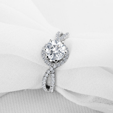 Buy AINOUSHI 1 ct Round Cut Halo Wedding Ring 925 Sterling SilverFashion Bague Accessories Women Wedding Engagement Rings for $37.55 in AliExpress store