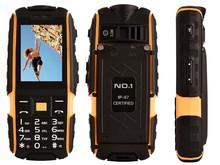 Original NO.1 a9 IP67 Waterproof shockproof Dual SIM Card mobile cell phone 4800mAh battery FM flashlight can Russian keyboard(China (Mainland))