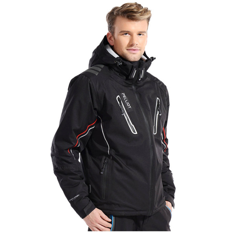 Men Ski Jacket Coat Top Cool Male Outdoor Sports Clothes