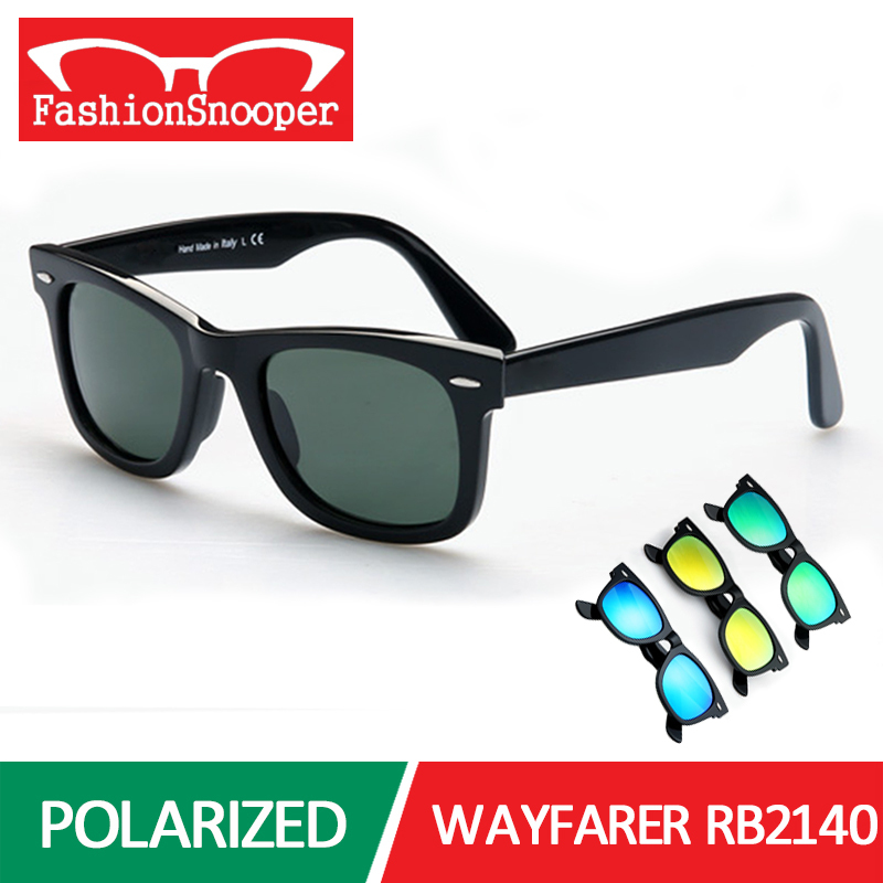 Men Wayfarer Polarized Sunglasses Classic Unisex Vintage Original Brand Designer Sun Glasses RB2140 Polaroid Oculos De Sol E4038(China (Mainland))