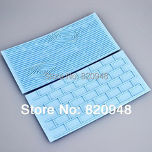 Free Shipping 1 set link wood grain and brick Wall embossers baking tool mould lace Mat decorating fondant Cake Decorating Tool