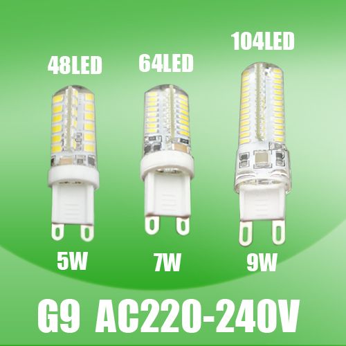 220V G9 LED Bulb 5W 7W 9W Replace for Chandelier Crystal Lamp LED Spotlight Lamp 360 Beam Angle Warm Cold White Free Shipping(China (Mainland))
