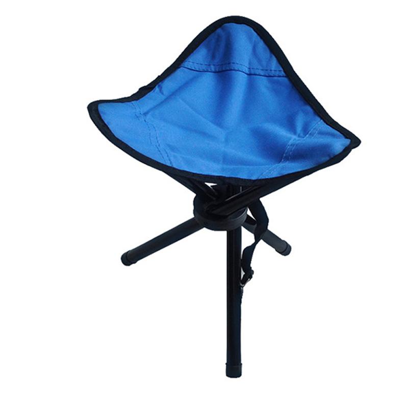 Outsp Portable Triangle Folding Fishing Chairs Outdoor Camping Folding Picnic Chair Metal Stool Chair Fishing kamp sandalyesi(China (Mainland))