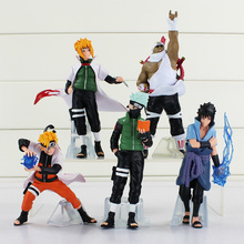 Buy High 5pcs/set 32 Generation Naruto Uzumaki Uchiha Sasuke Hatake Kakashi Killer B Namikaze Minato PVC Action Figure for $13.28 in AliExpress store
