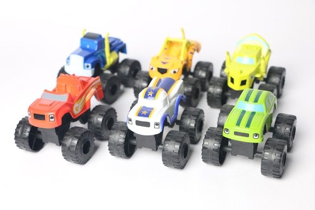 Hot Blaze and the Monster Machines Car 6pcs Lot  Mud Racin Pickle Darrington Zeg Crusher Stripes Toys With Original Box