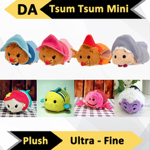 The Newest 9cm 3 1/2 inch Tsum Tsum Stuffed Plush Mobile Phone Screen Cleaner Wiper Charm with Original Japan Tags Toys Gifts(China (Mainland))