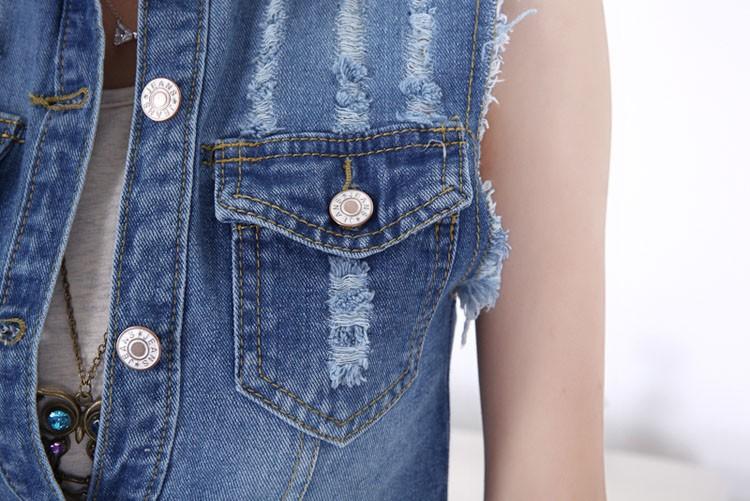 2015 Summer new female denim vest korean style women sleeveless long jeans vests jacket casual woman cowboy clothes big size 5XL (12)
