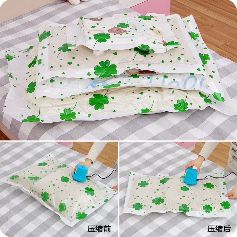 Thicken clothing wardrobe wadded quilt vacuum compressed bags rolling type clothing foldable storage bags large mildew bag D102(China (Mainland))