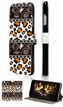 Hot selling Cheetah Print retro hybrid retail 5designs mobile phone bag card wallet leather cases for IPHONE4 4S free shipping
