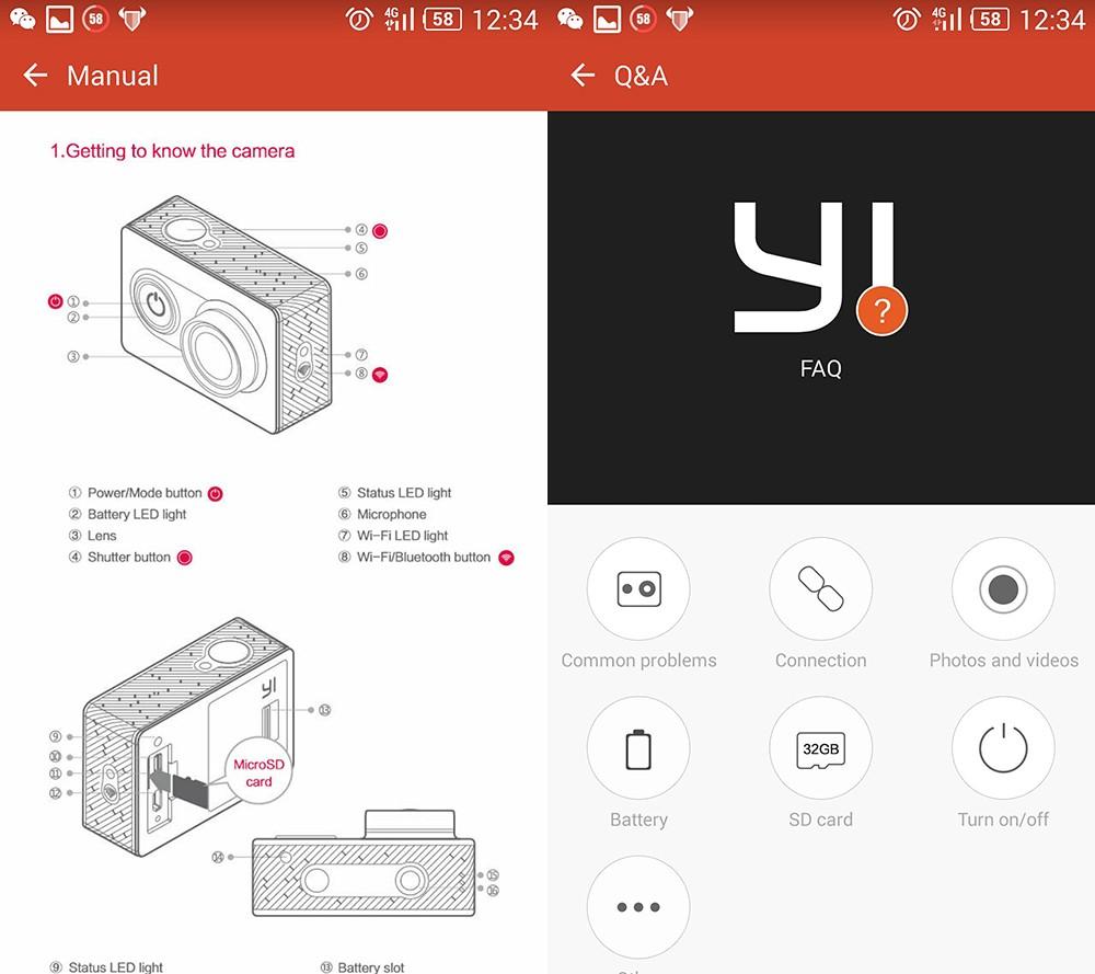 NEW International Version Original Xiaomi Xiaoyi YI Sports Camera WiFi Action Mi Sport Camera 60FPS WIFI Ambarella Camcorders