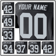 100% Stitched With Customized #32 Jack #32 Marcus #33 DeAndre #34 Bo #37 Lester #39 Keith #42 Karl Elite Black Football Jersey w(China (Mainland))