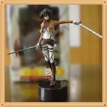 Anime Attack On Titan Mikasa Ackerman PVC Action Figure Collectible Model doll toy 14cm